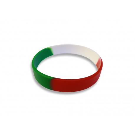 Szilikon osztott nemzeti színű karkötő