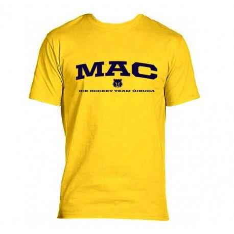 MAC Újbuda sárga póló